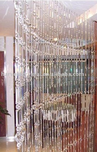 hanging crystal room divider photo - 3