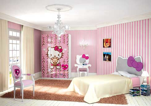 hello kitty bedroom furniture for kids photo - 4