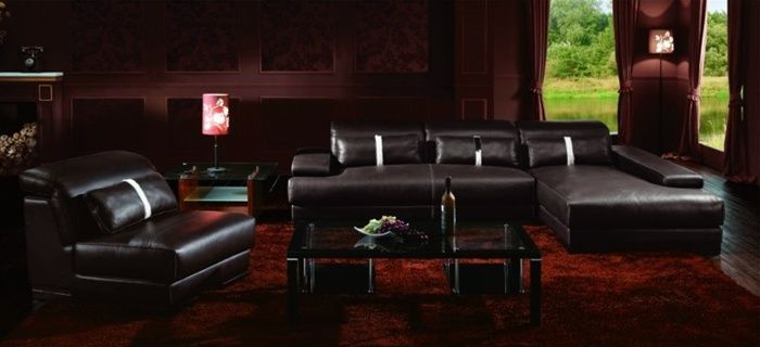 high end leather sectional sofas photo - 2