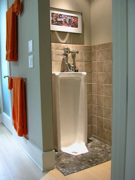 home bathrooms with urinals photo - 1