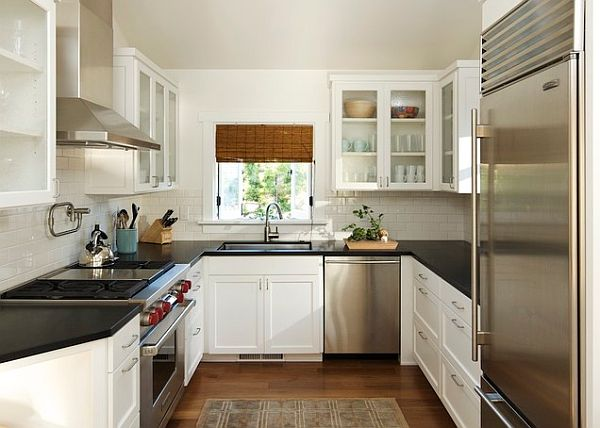 ideas for u shaped kitchen photo - 2