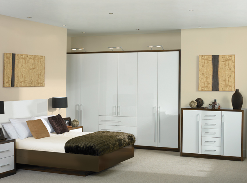 High Gloss White Bedroom Furniture Sets
