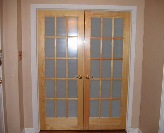 interior french doors frosted glass photo - 4