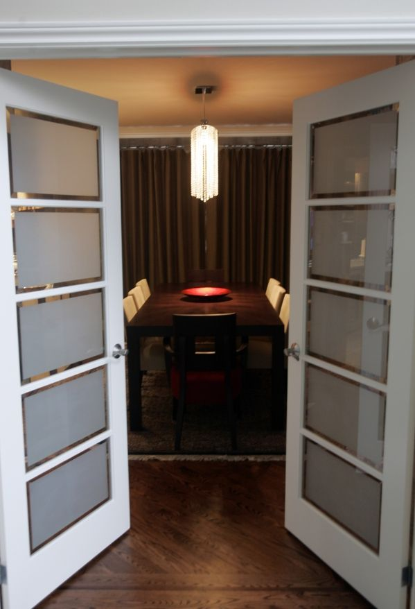 interior french doors frosted glass photo - 5