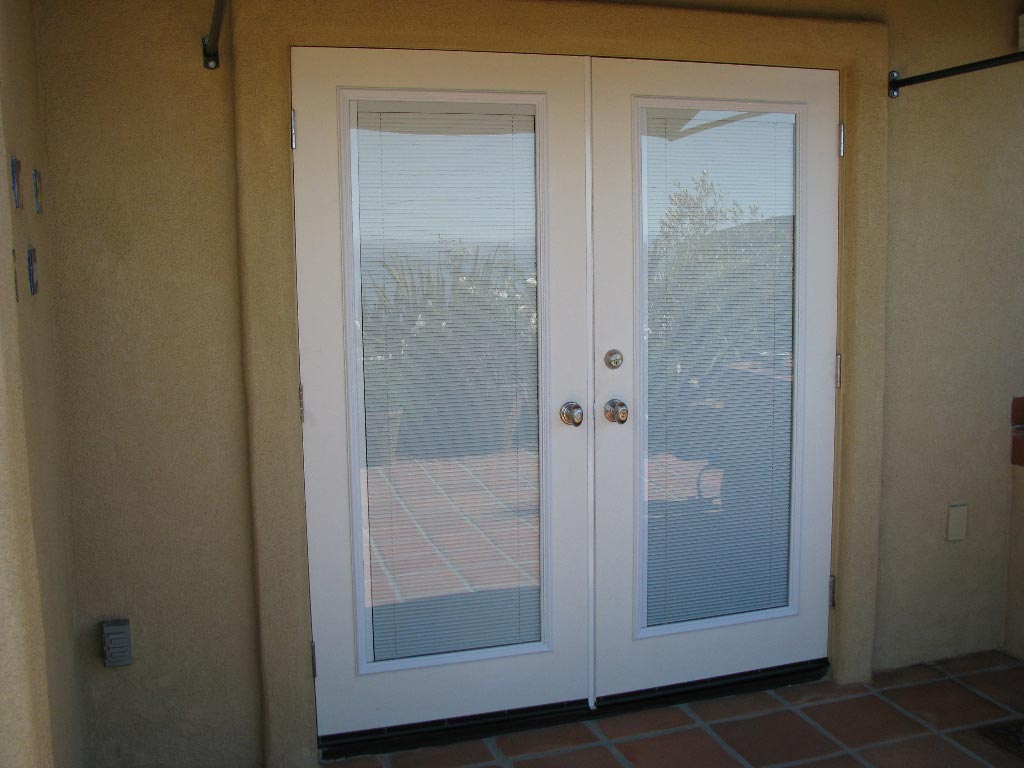 French patio doors with built in blinds french patio doors for Interior exterior doors
