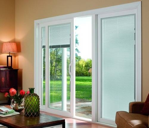 interior french doors internal blinds photo - 5