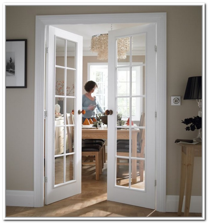 interior french doors white photo - 1