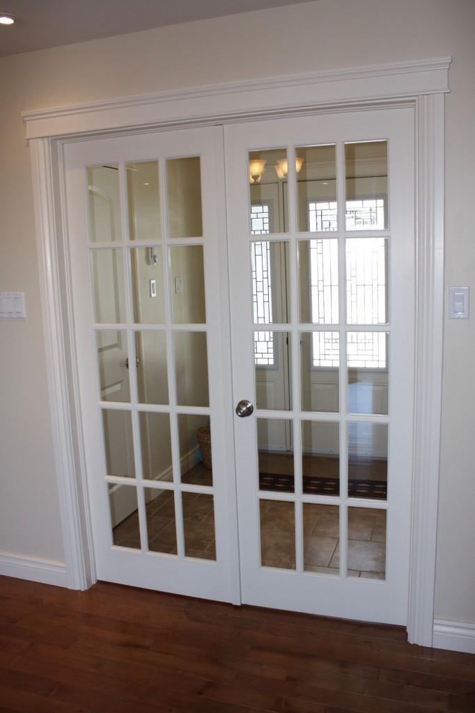 interior french doors white photo - 2
