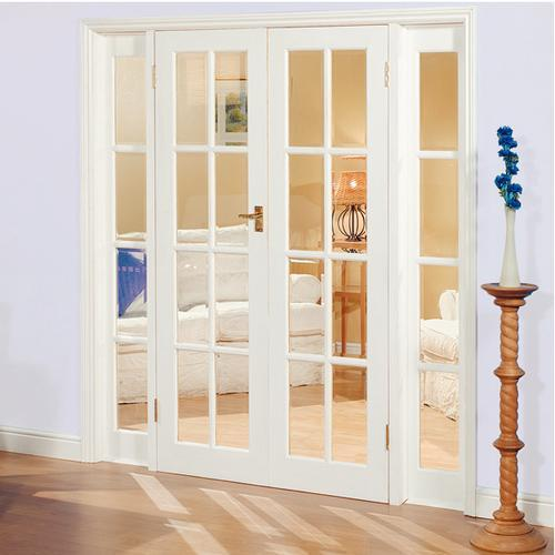 interior french doors white photo - 5