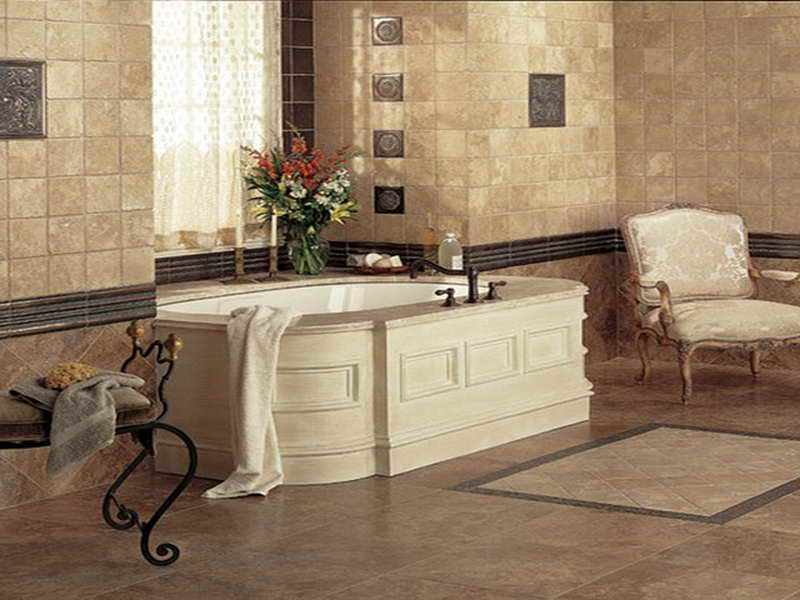 italian bathroom tile design photo - 1