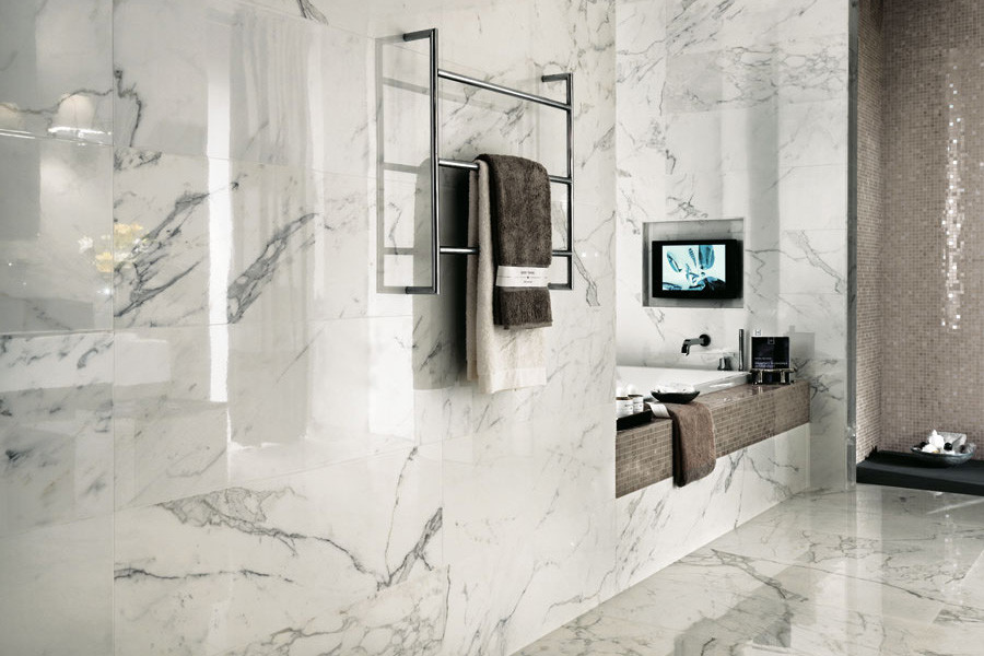 italian bathroom tile design photo - 5