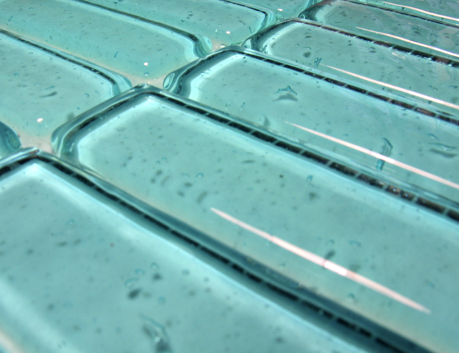 italian glass bathroom tile photo - 1