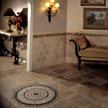 italian marble tile bathroom photo - 2