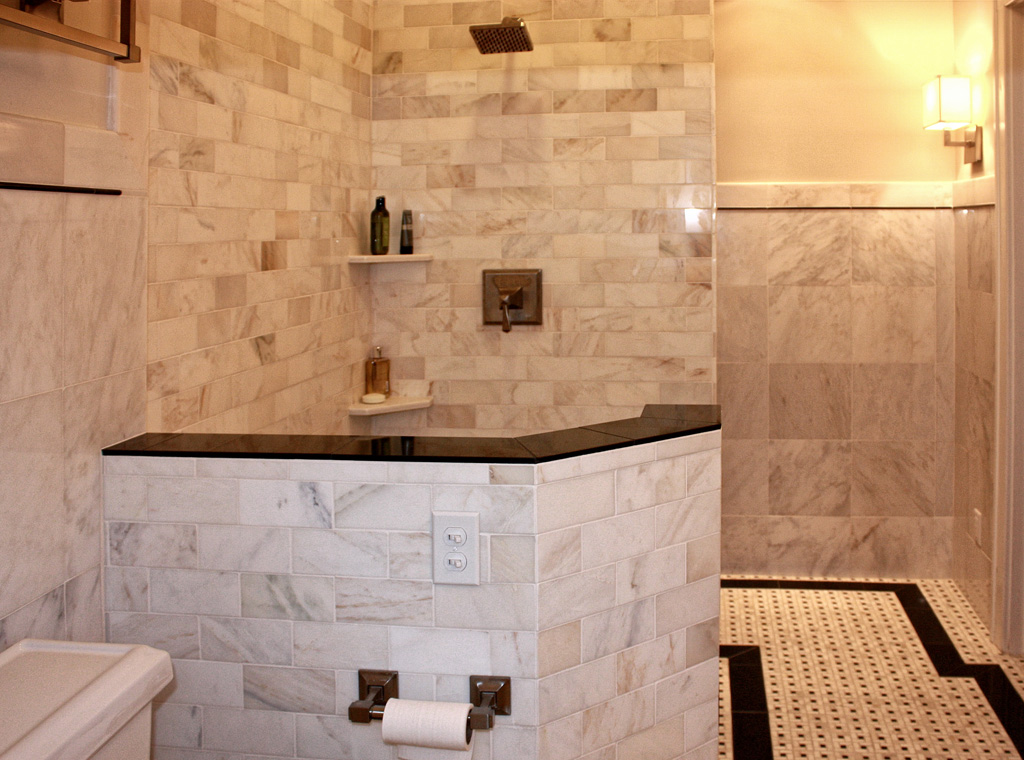 italian marble tile bathroom photo - 4