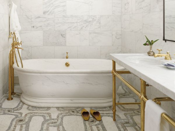 italian marble tile bathroom photo - 5