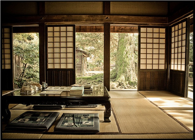 japanese tea house interior photo - 1