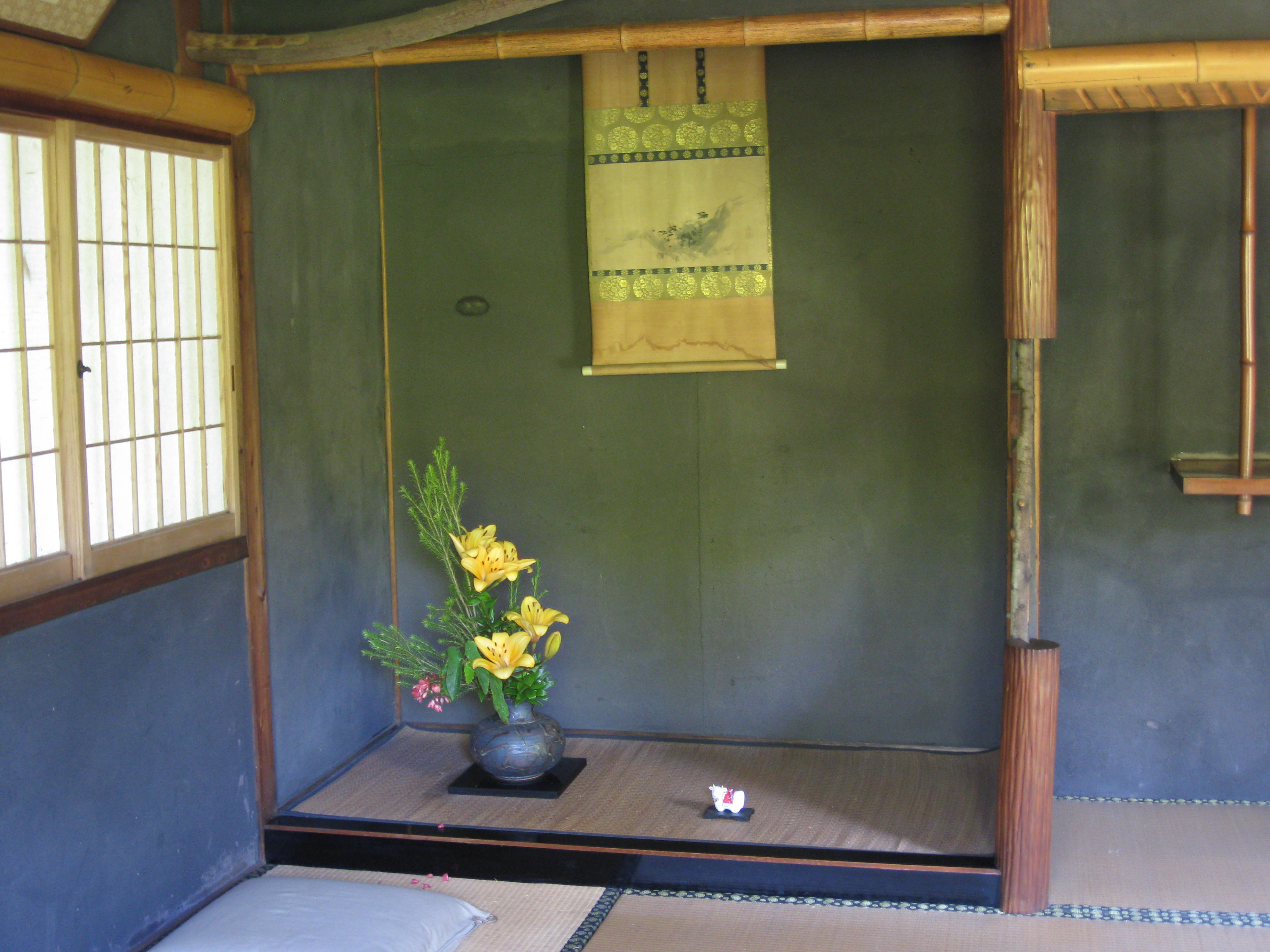 japanese tea house interior photo - 2