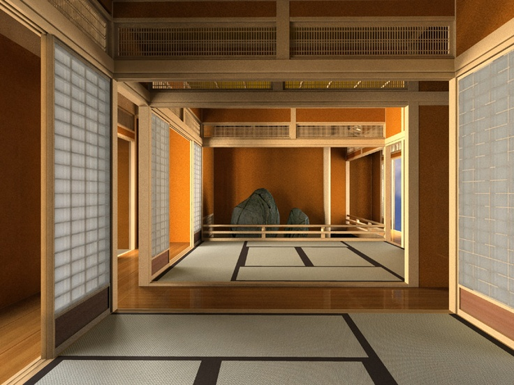 japanese tea house interior photo - 4