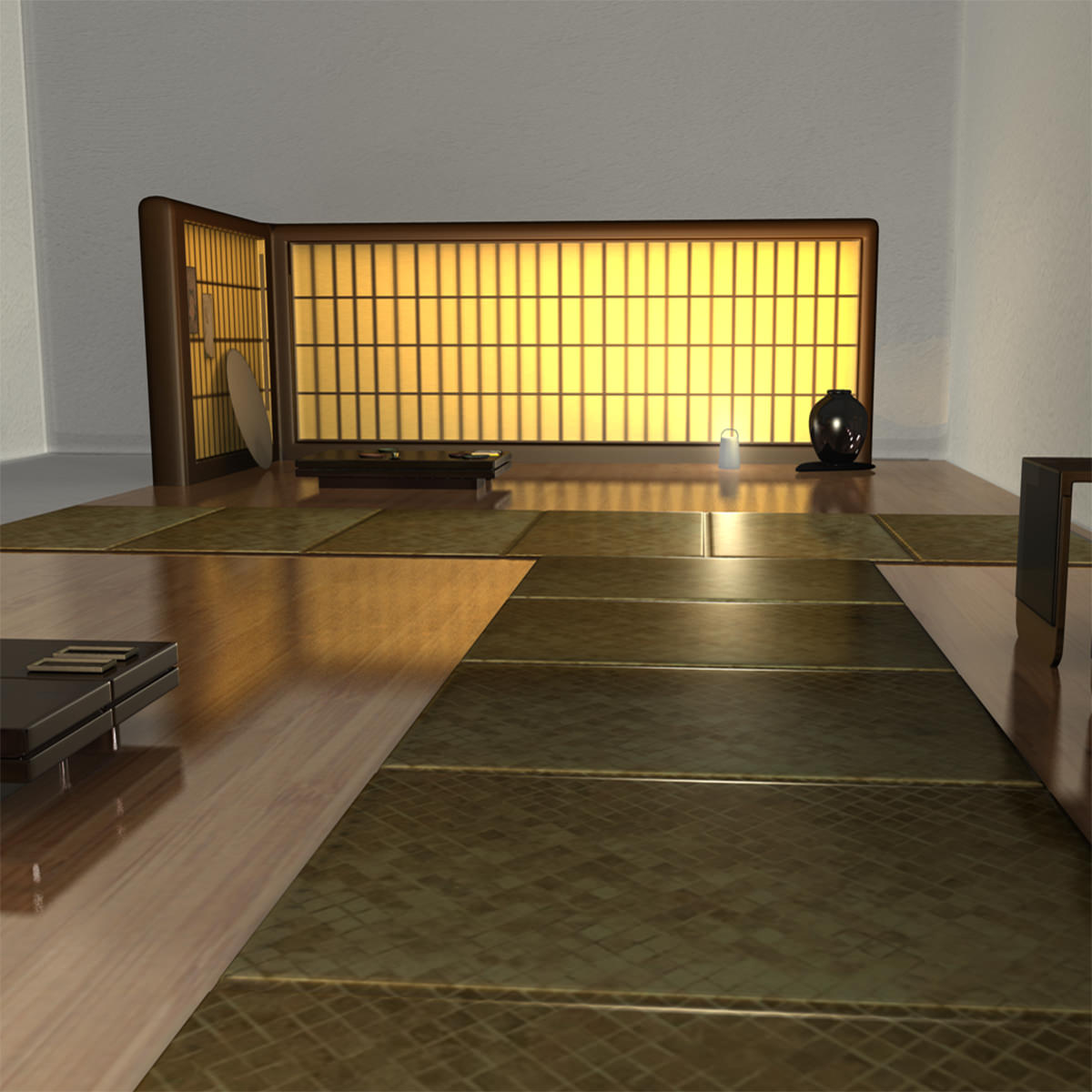 japanese tea house interior photo - 5