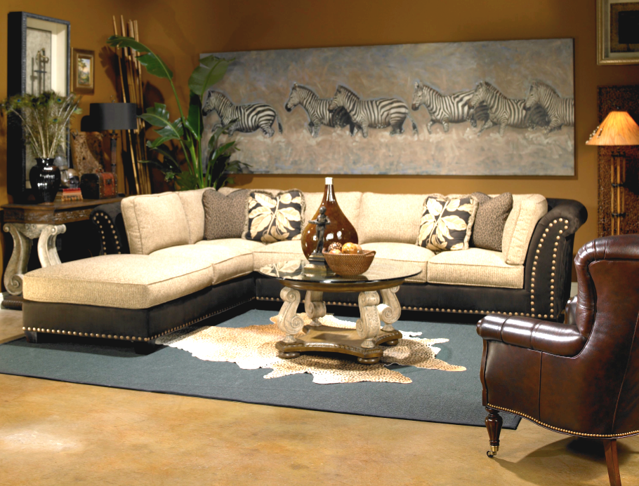 jungle living room designs photo - 2