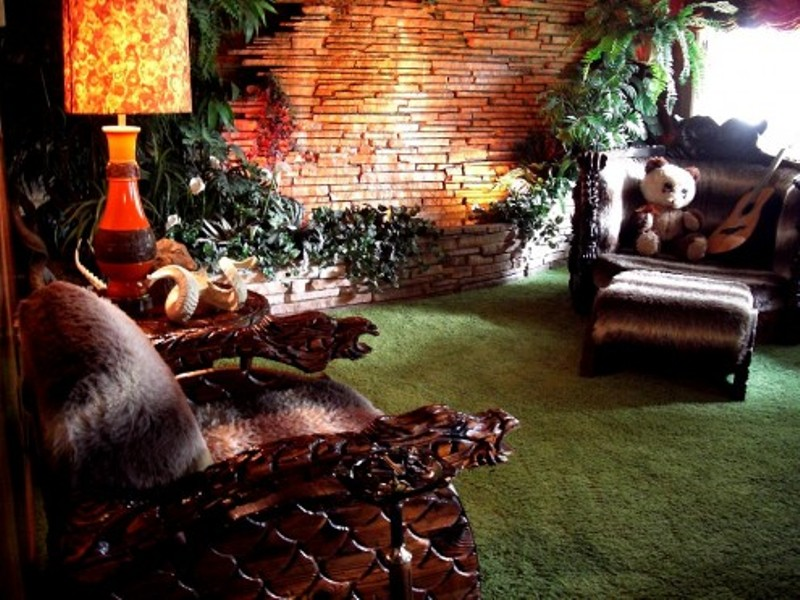 jungle living room designs photo - 6