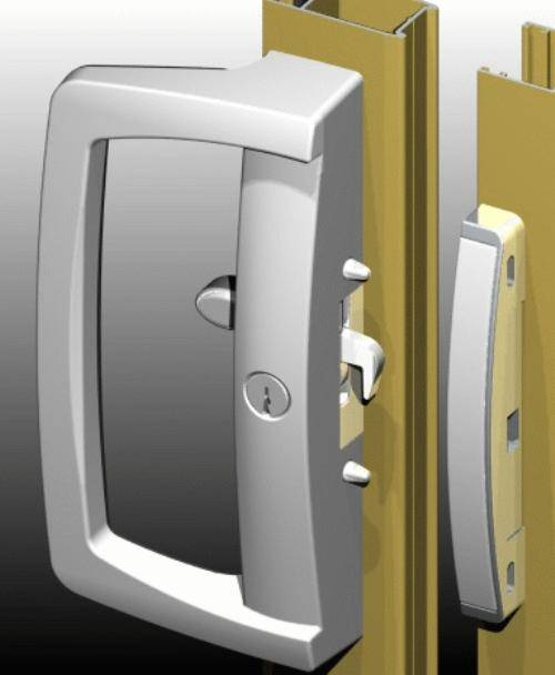 keyed interior sliding door lock photo - 1