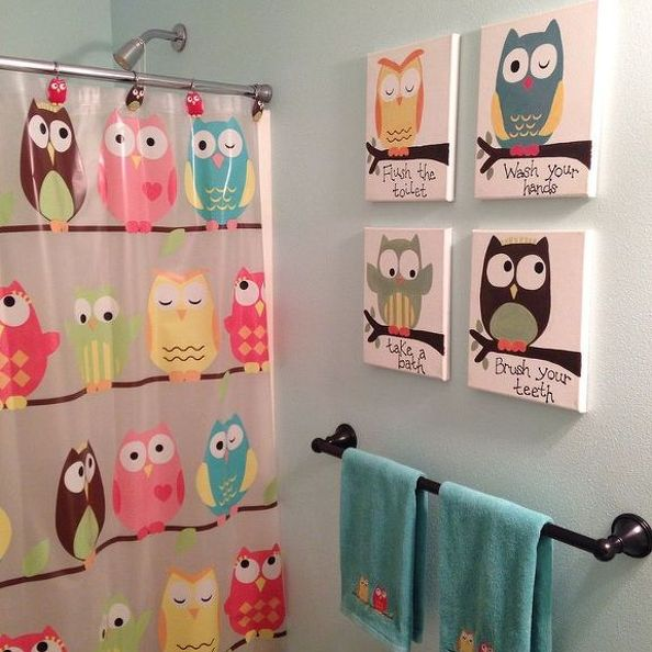 kids bathroom art ideas photo - 2