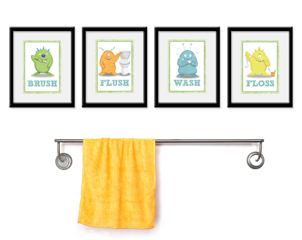 kids bathroom art ideas photo - 3