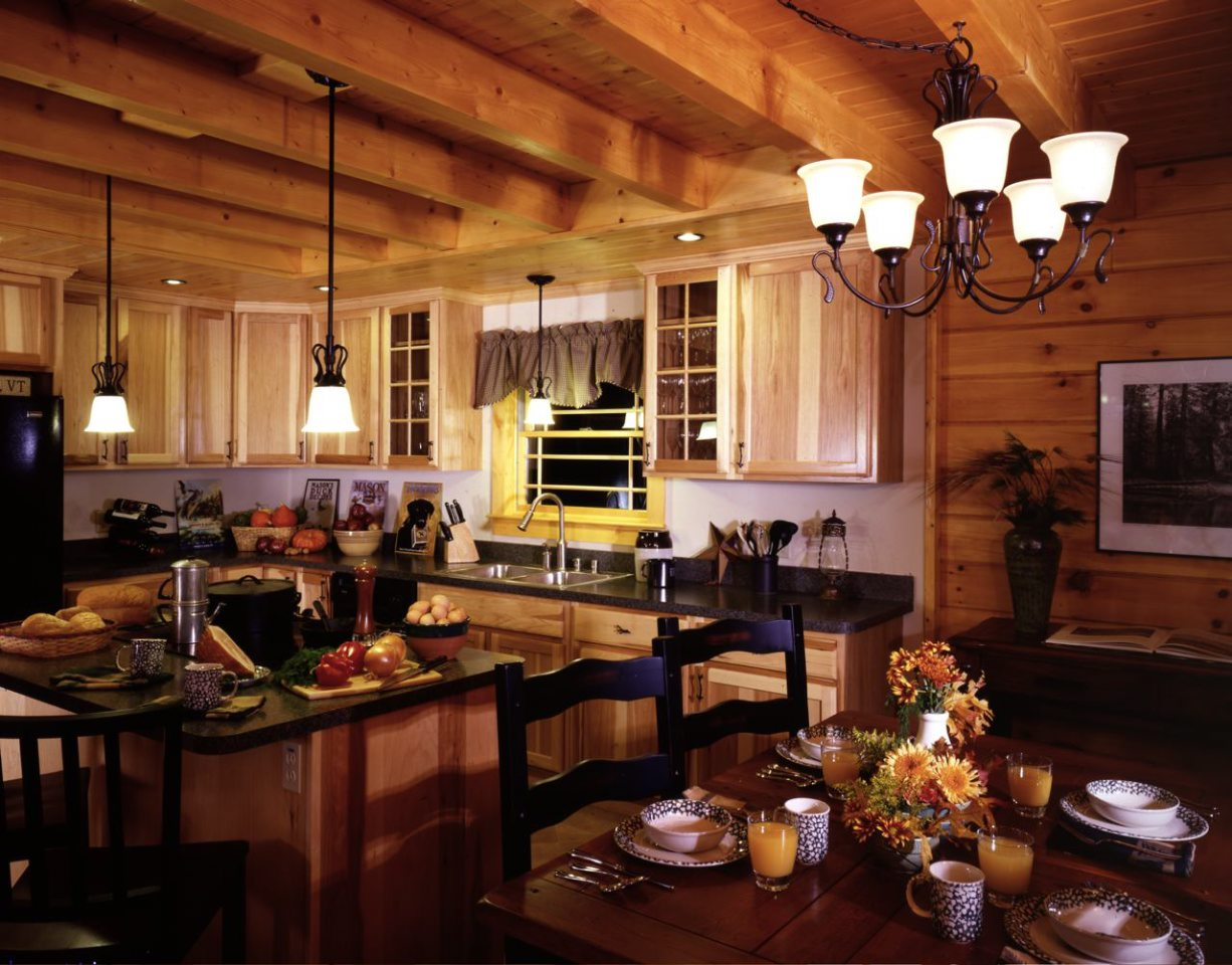 kitchen cabinet ideas for a cabin photo - 2