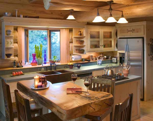 kitchen cabinet ideas for a cabin photo - 3