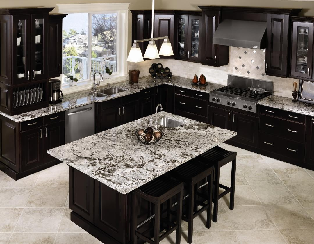 kitchen cabinet ideas with black appliances photo - 4