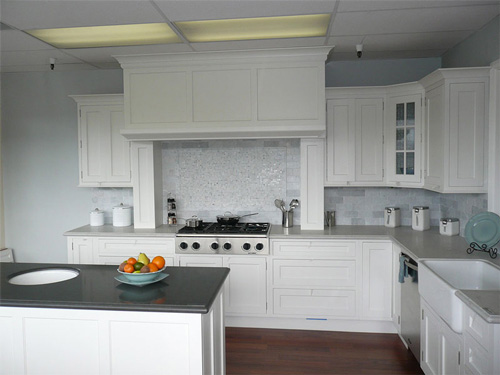 Kitchen Cabinets Colors With White Appliances Countertops And