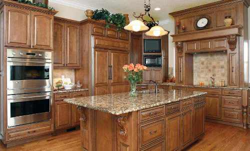 kitchen cabinet stain cost photo - 1