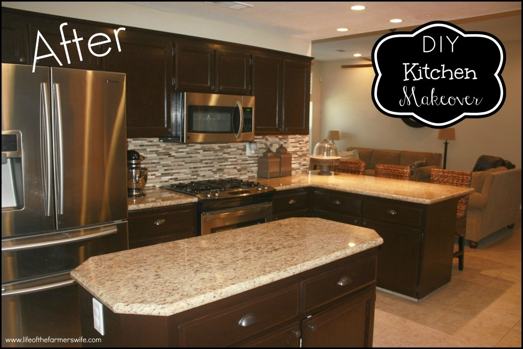 nice Restaining Kitchen Cabinets Before And After #9: Oak Kitchen Cabinet Refinishing. Staining ...