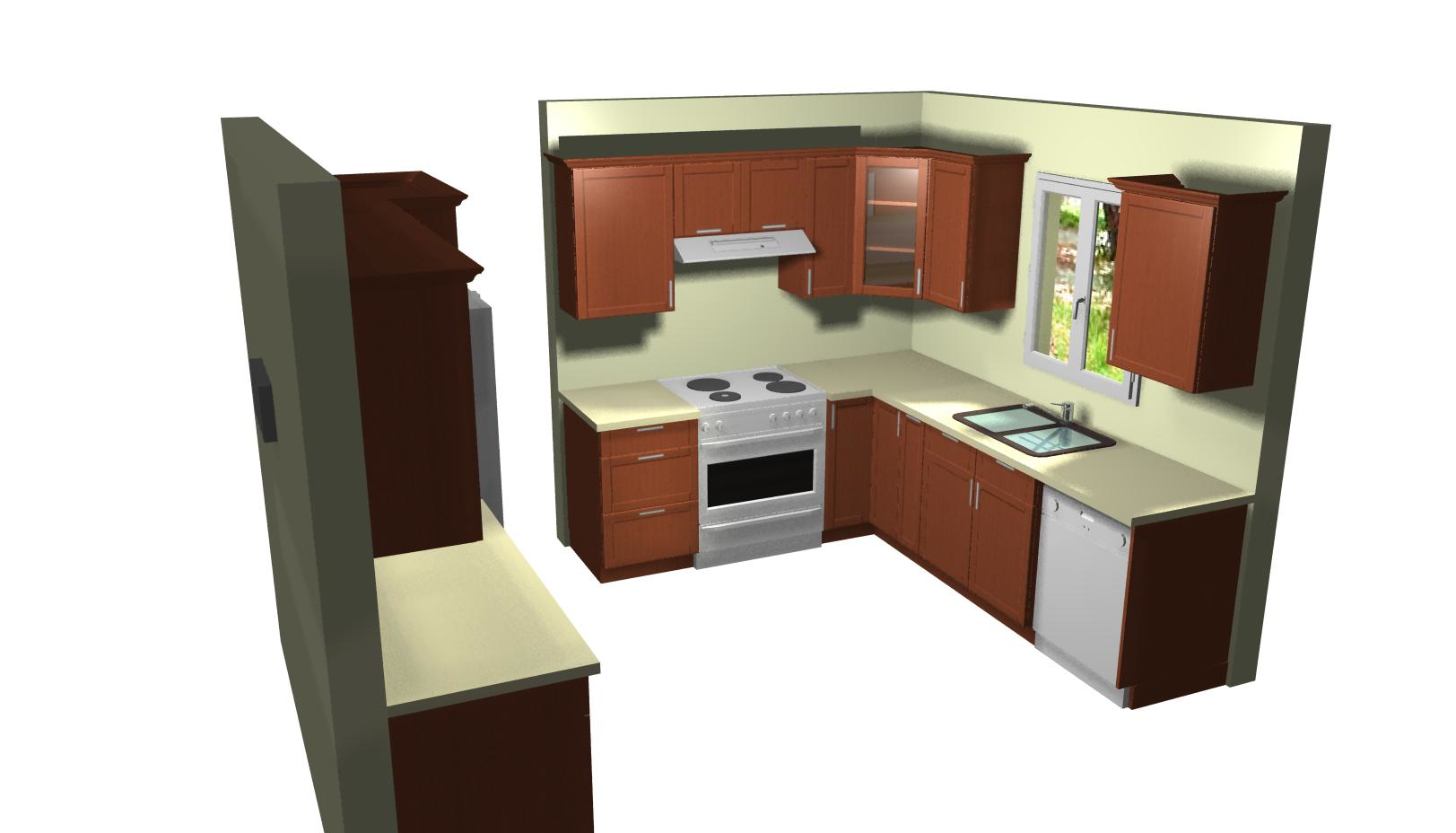 Kitchen Cabinets Design Layout Single Wall With