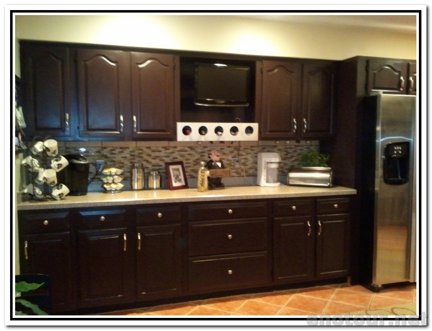kitchen cabinets stains pictures photo - 2