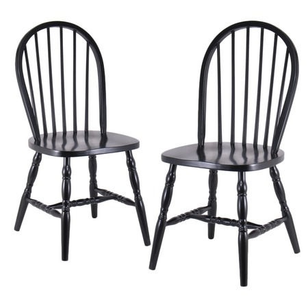 kitchen chairs black wood photo - 5