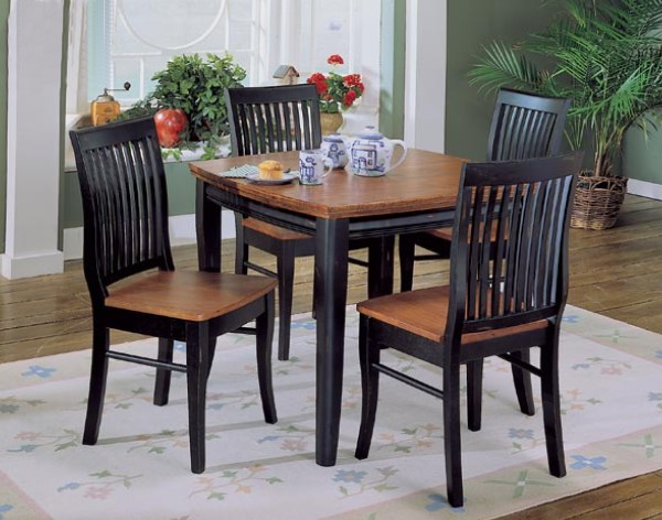 kitchen chairs black wood photo - 6