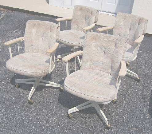 kitchen chairs on wheels photo - 1