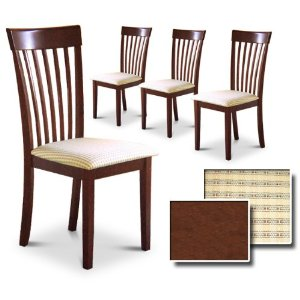 kitchen chairs set of 4 photo - 4