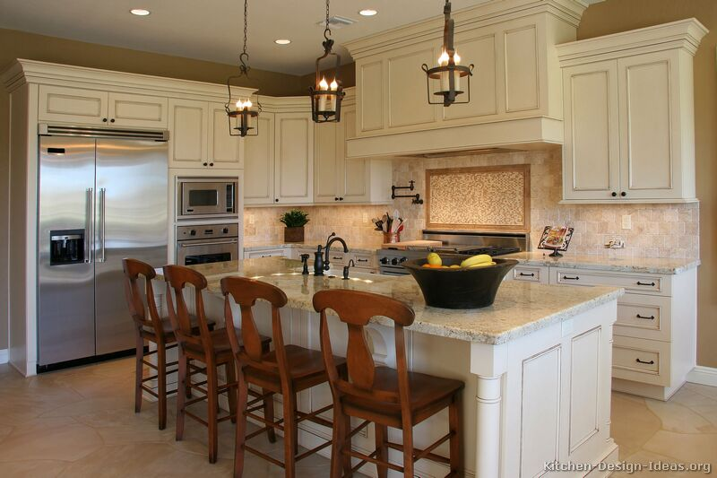 kitchen design ideas antique white photo - 1