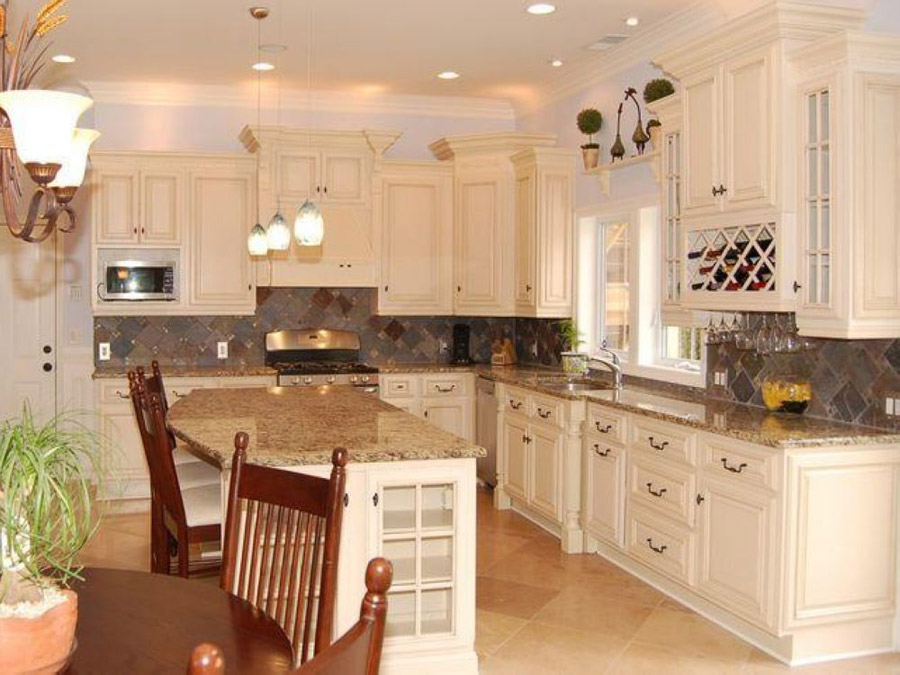 kitchen design ideas antique white photo - 3