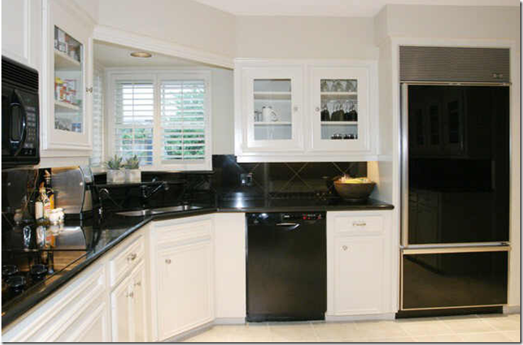 Kitchen Design White Cabinets Black Appliances beautiful kitchen design black appliances white or gray cabinets