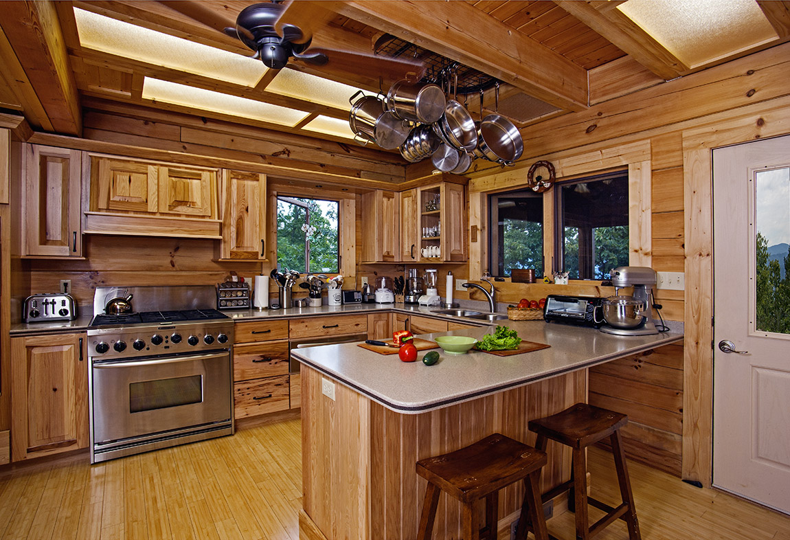 Kitchen design ideas for log homes 15 things to for Log home kitchen ideas