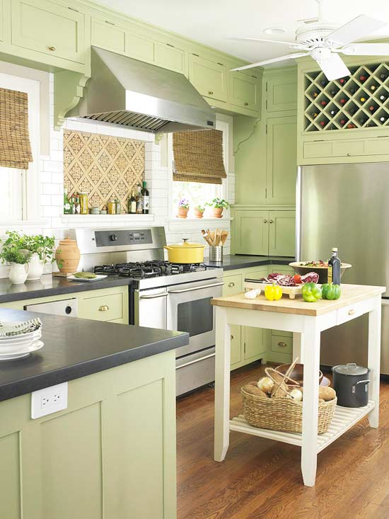kitchen design ideas green photo - 1
