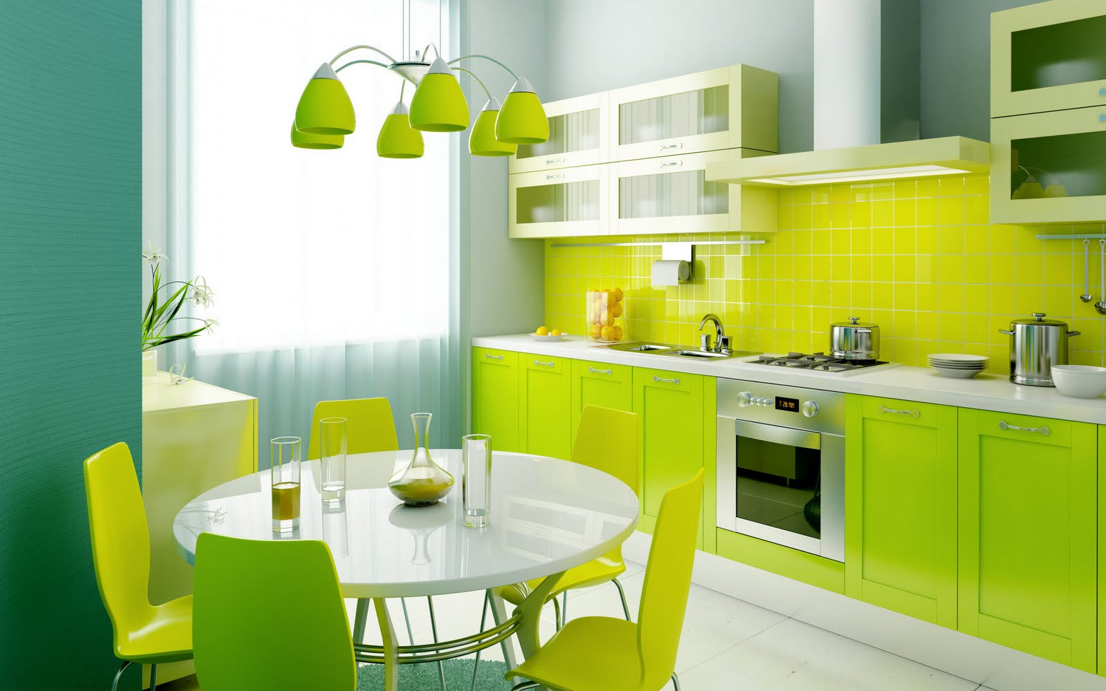 kitchen design ideas green photo - 2