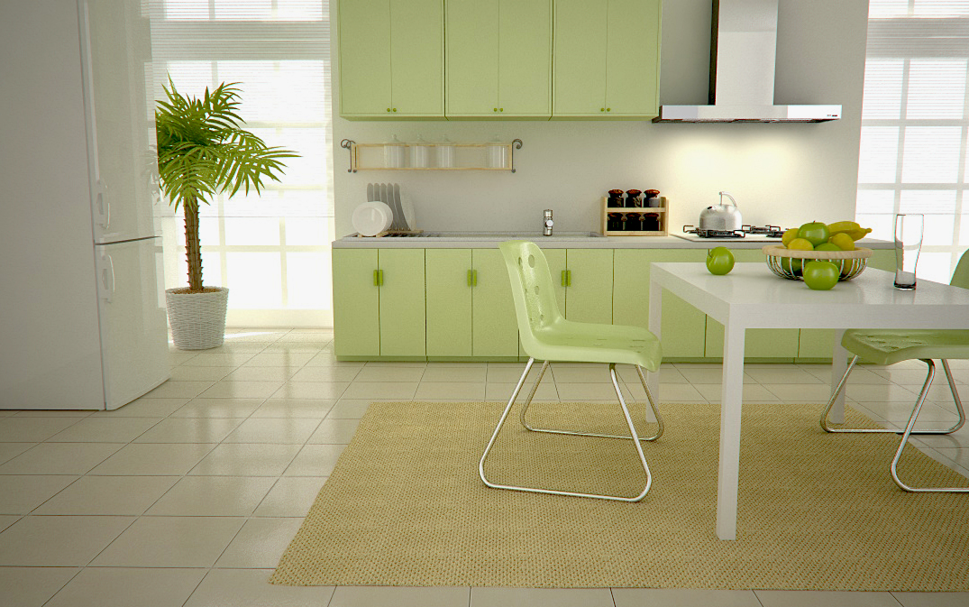 kitchen design ideas green photo - 3