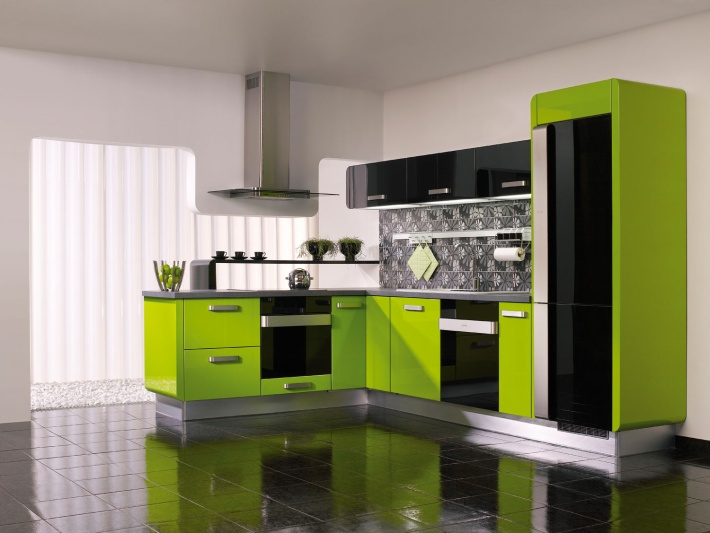 kitchen design ideas green photo - 4