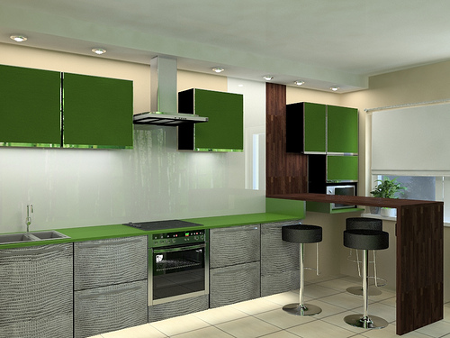 kitchen design ideas green photo - 5