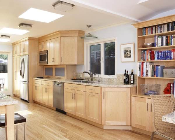 Kitchen Design Ideas Light Wood Cabinets Interior Exterior Doors